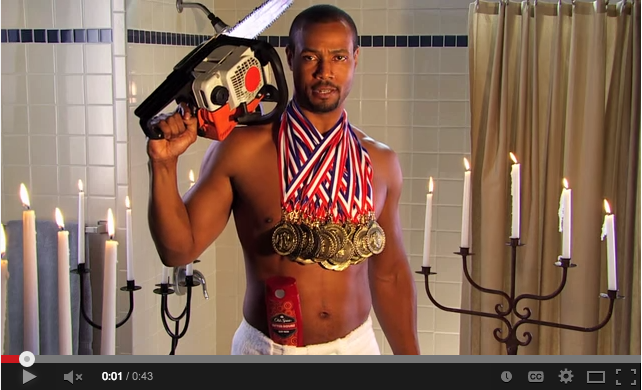 This is a screen capture from the Old Spice Branding Campaign.
